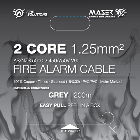 2 Core Fire Alarm 450 750v Cable Fire Alarm Cable Maser