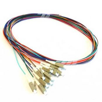 Pigtail Leads, LC/PC Connector, OM3 Multimode, Rainbow, 1 Metre, 12 Pack (EM-EAP051-LC-P-OM3-1)
