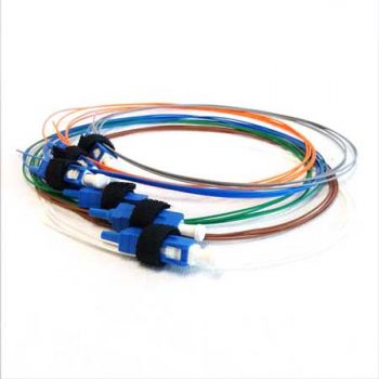 Pigtail Leads, LC/PC Connector, OM4 Multimode, Rainbow, 1 Metre, 6 Pack (EM-EAP056-LC-P-SM-1)