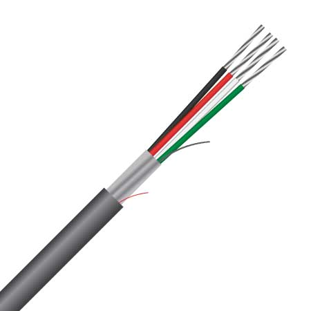 4 Core, 0.8mm², 18AWG, Shielded, Multi-purpose Cable (MAS4CS18)