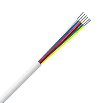 6 Core, 0.22mm², 100% Copper, Tinned, Security Cable (MSEC 6072 TCW)