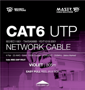 Cat6, UTP, Violet, Network Cable (MSEC C64P VIOLET)
