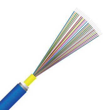 24 Core, OM4 Multimode, Gel Flooded, Direct Bury, Loose Tube, Fibre Optic Cable (OQDU55EA024BE)