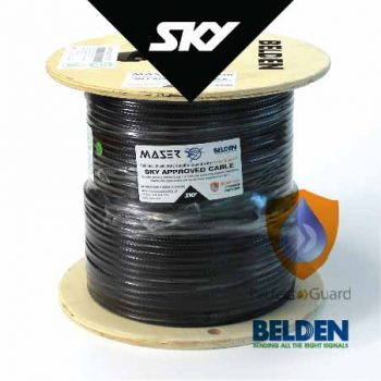 RG6, Sky Approved, Black, 152m, 75 Ohm, Satellite / Antenna Coaxial Cable (B1829AC-10-152P)