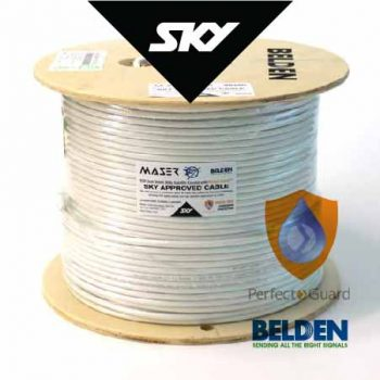 RG6, Sky Approved, White, 305m, 75 Ohm, Satellite / Antenna Coaxial Cable (B1829AC-9P)